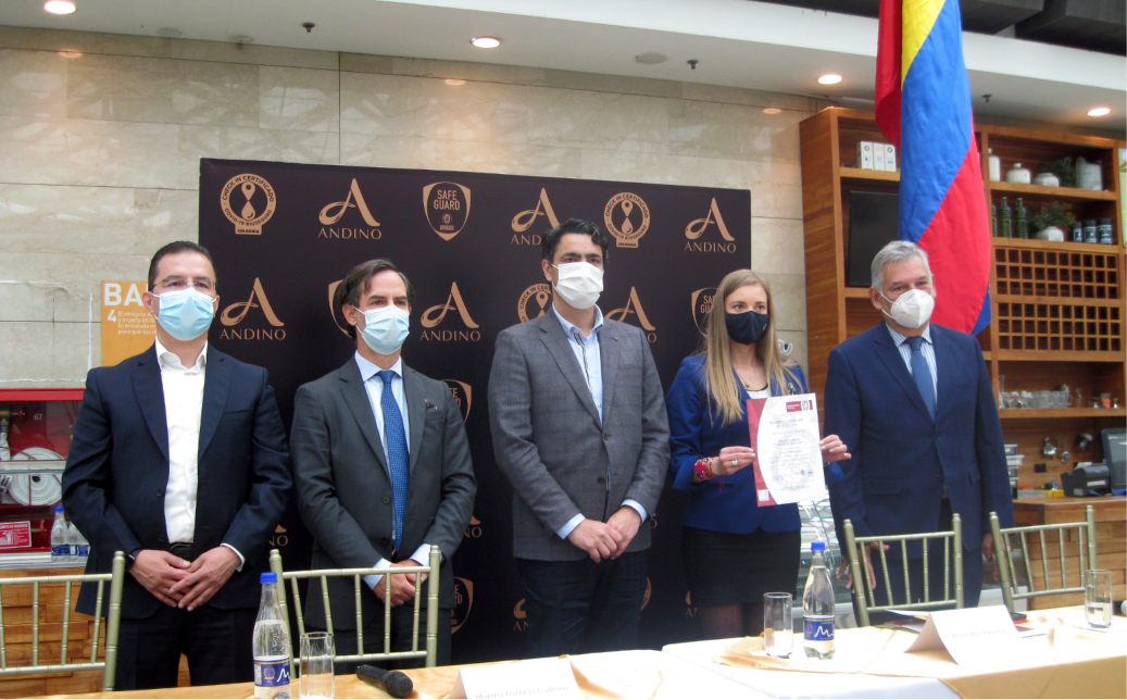 Centro comercial Andino certificado con sello de bioseguridad Check in