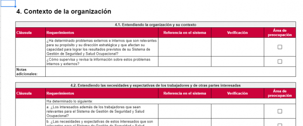 Descargar plantilla de ISO 45001