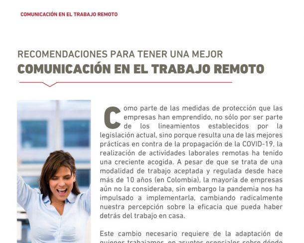 comunicacion en el trabajo remoto